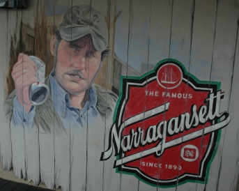 Cooler goes in the boat, you go in the cooler. Narragansetts in the cooler. Can you get me one?