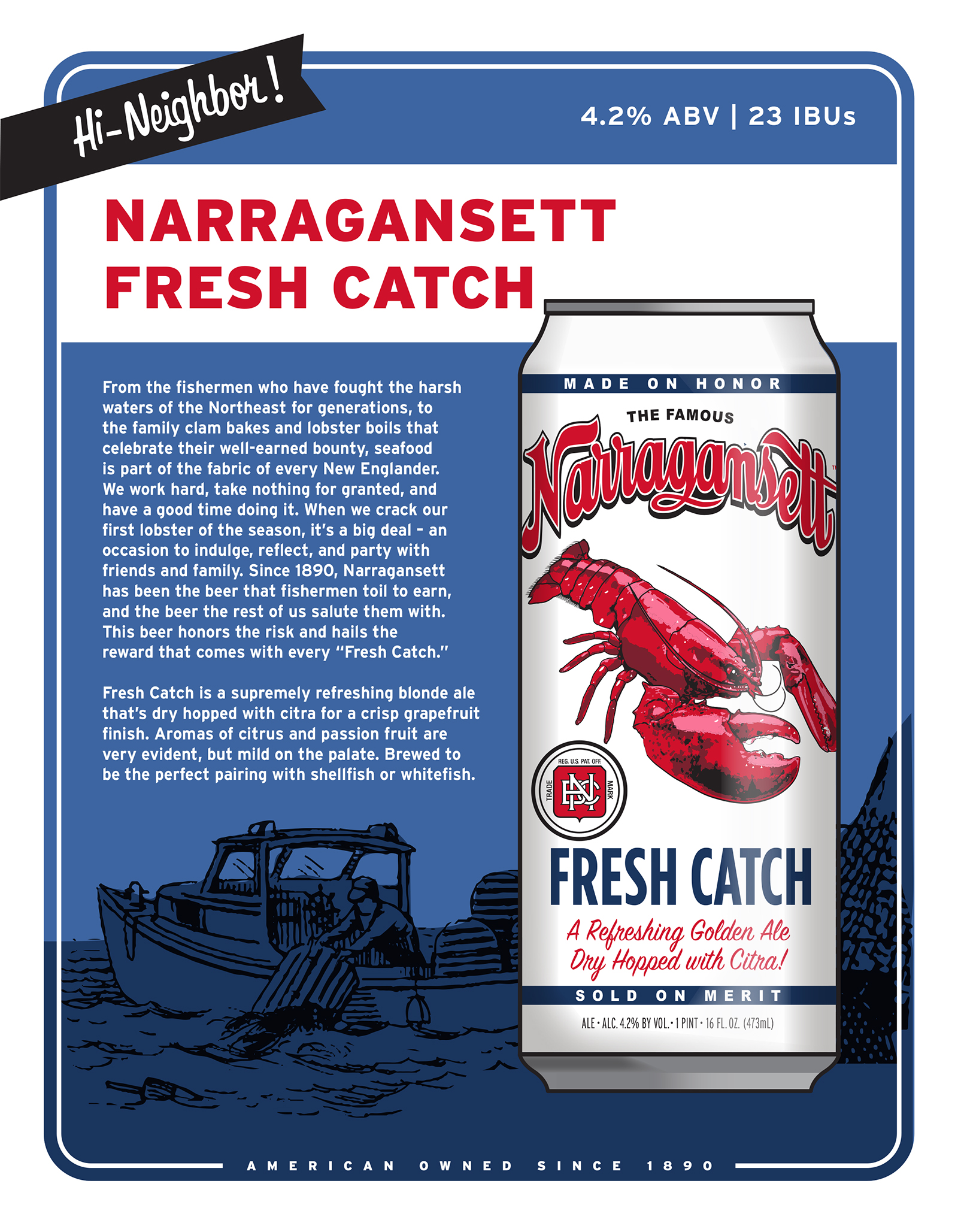 Narragansett Fresh Catch Blonde Ale