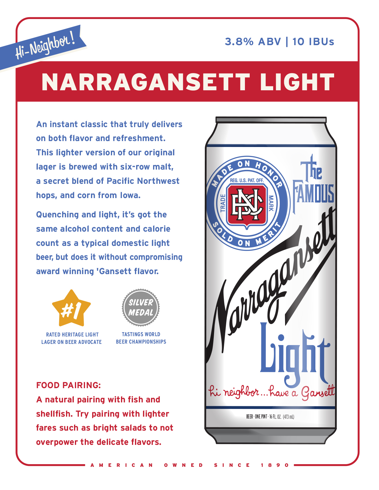 Narragansett Light Beer